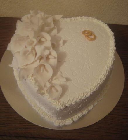 Свадебный торт дюймовочка