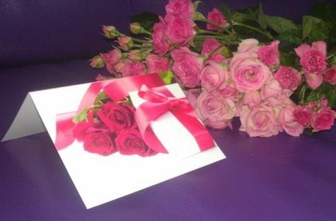 Доставка цветов с открыткой, запиской Киев