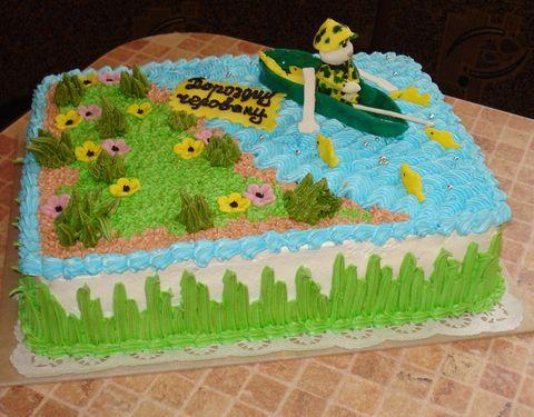 торт для рыбака из крема фото
