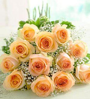 Фото букет цветов персиковый рассвет