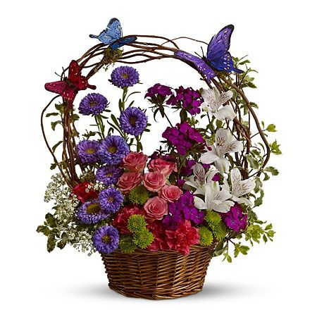 Корзины цветов на юбилей