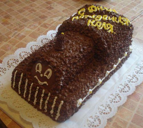 Детский торт из шоколадок