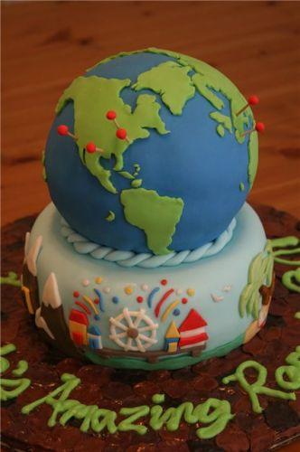 Торт глобус на выпускной фото