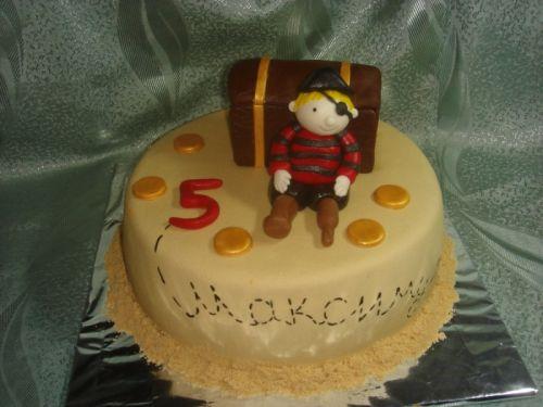 Детский торт пират на отдыхе доставка