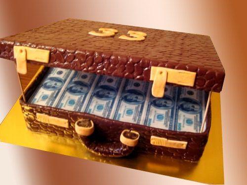 Торт Чемодан с долларами Киев