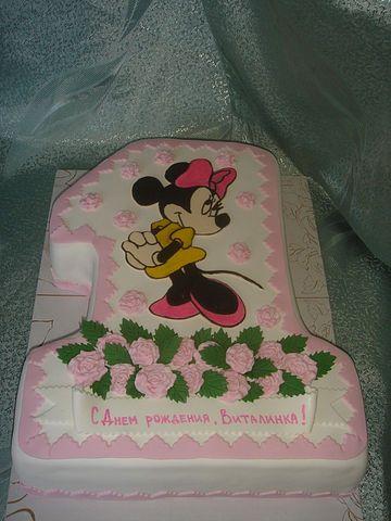 """Детский торт на заказ  """"1 годик Принцессе """".  855 UAH."""