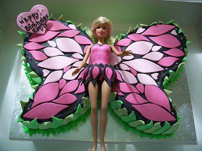 Торт для девочки барби бабочка 1369 00