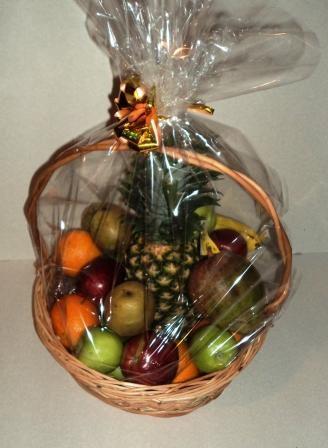 Корзинка из фруктов своими руками