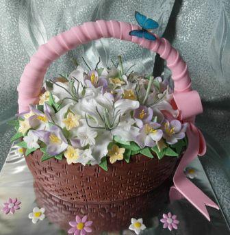 Доставка красивых тортов Флора-Сакура
