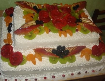 Торт фруктовый на заказ фото