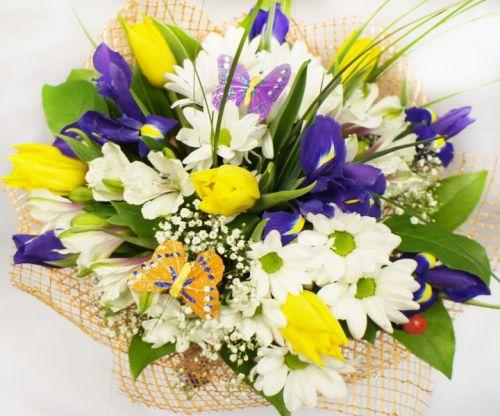 Открытка букеты цветов фото