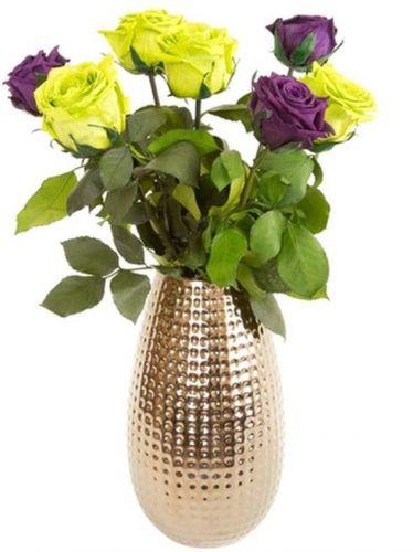 Доставка зеленых и фиолетовых роз по Украине