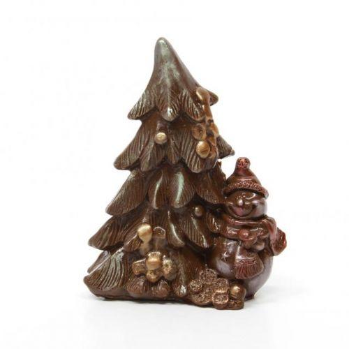 Шоколадные елки и деды морозы к новому году