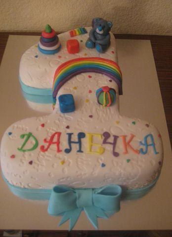 Детский торт на 1 годик радуга 957 00 uah