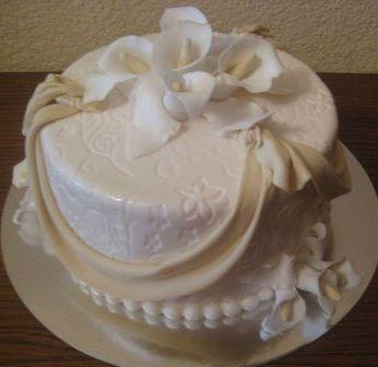 Торт на свадьбу небольшой