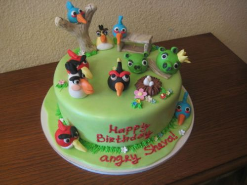 Детский торт с птичками Энгри Бердз