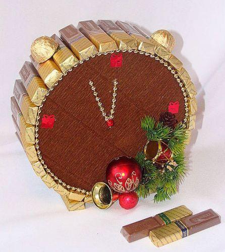 Торты подарки из сладостей новый год