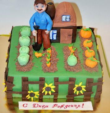 Торт дедушке Огород, 1494.00 UAH: описание и фото на сайте Flora ...