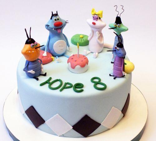 Детский тортик Огги и Кукараччи