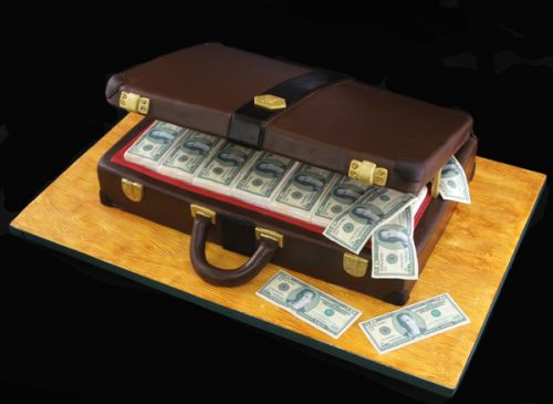торт кейс с деньгами фото